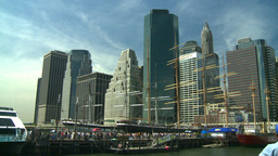 NYC waterfront tallships harbor Stock Video Footage