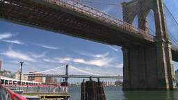 NYC Brooklyn bridge Stock Video Footage