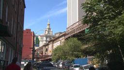 NYC approach Brooklyn bridge Footage