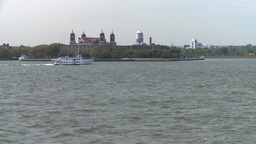 NYC ferry ride look upper new york bay boat Stock Video Footage