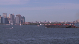 NYC ferry ride barge Z Stock Video Footage