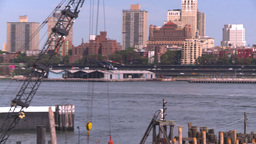 NYC ferry term heli take off Stock Video Footage