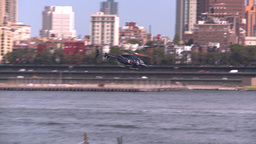 NYC ferry term heli take off Footage