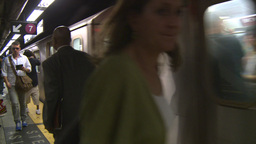 NYC subway stn Stock Video Footage