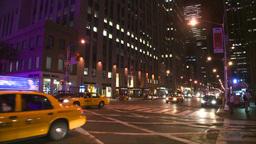 NYC night traffic Stock Video Footage