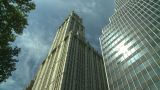 NYC Skyscraper Gothic Arch stock footage