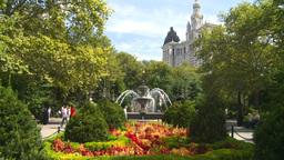 New York City Hall Park Fountain Footage