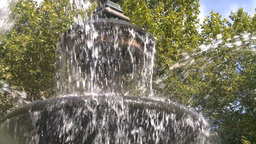 New York City Hall Park Fountain Footage