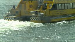 NYC yellow ferry Stock Video Footage