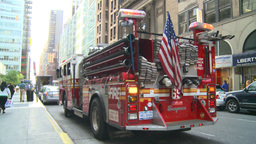 HD2008-8-24-19 FDNY fire truck Stock Video Footage
