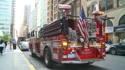 HD2008-8-24-19 FDNY fire truck Stock Video Footage