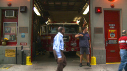 HD2008-8-24-21 FDNY fire truck Stock Video Footage