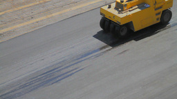 Compactors Flattening Asphalt Stock Video Footage