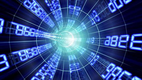 Data tunnel Eb HD Stock Video Footage