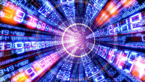 Data tunnel Ca HD Stock Video Footage