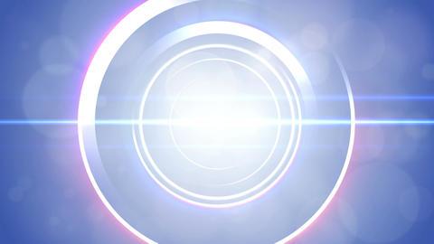 Opening intro Flash light flare W 2 blue 4k Animation