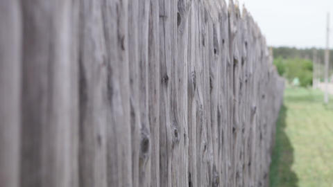 wooden fence in the village Footage