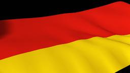 3d Render of the German flag Footage