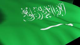 Saudi Arabian Flag in High Definition Live Action