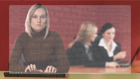 Woman working in an office Footage