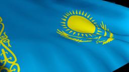 kazakhstan flag in 3d Live Action