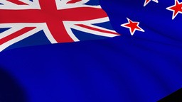 Flag of New Zealand Footage