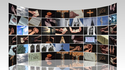 Montage of Religious footage Footage