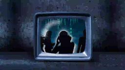 People dancing in television screens Footage