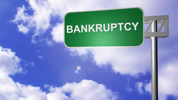 Signpost showing Bankruptcy Way Footage