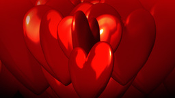 Red Hearts Moving stock footage