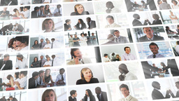 Collage of business people working Animation