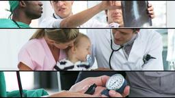 Footage Of Medical Work stock footage
