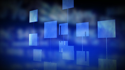 Abstract digital panels against blue background. C Animation