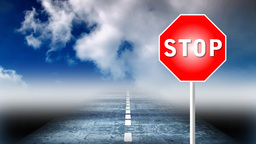 STOP. Respect the rules of the road Animation