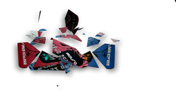 Broken credit cards. Bankruptcy Animation