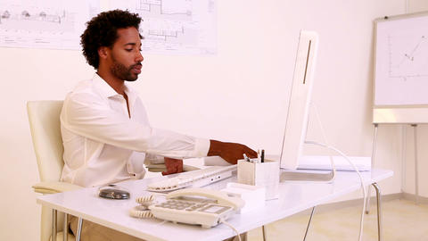 Architect working at his desk Footage