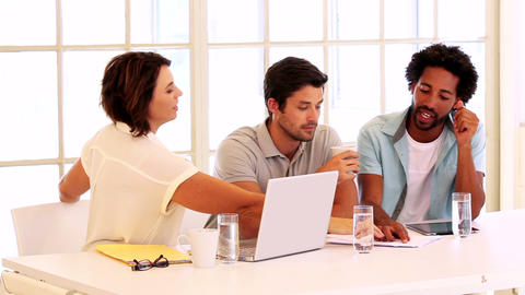 Casual Business Team Having A Meeting stock footage