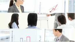 montage of people giving presentations Animation