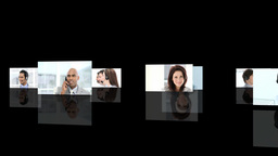 Crreative montage of Business people at work Animation