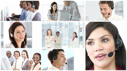 Business call centre Animation