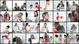 Business people stressed in the office Footage
