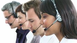 International customer service representative Footage