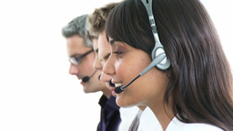 Presentation of diversity in a call center Footage