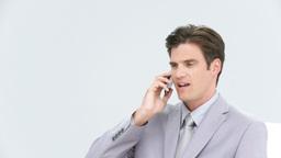 Charming businessman talking on phone Footage