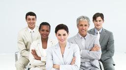 Portrait of confident business people Live Action