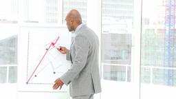 Positive businessman giving a presentation Footage
