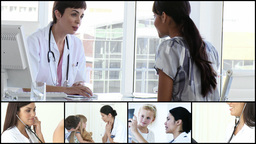 Woman visiting a doctor Animation