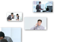 Montage of Business people at work Animation