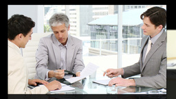 Montage of Business people at work in a company Animation