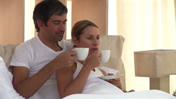 Animation of a couple drinking coffee Animation